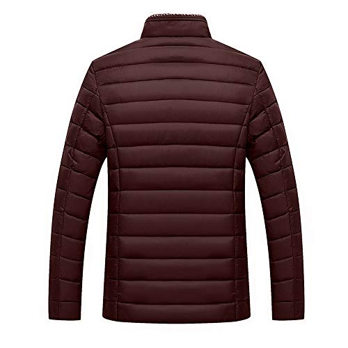 Men's Coats Give Winter Collar Cotton Warm Soild koiu❀❀Men's Stand Jacket Outwear Tops Red Velvet Zip rEqwz0E