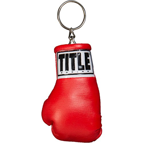 TITLE Excel Boxing Glove Keyring, Red Mini Boxing Key Ring