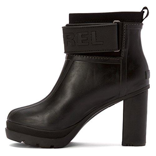 III Medina Black Booties Sorel Women's Heel Rubber OUw6Zxq