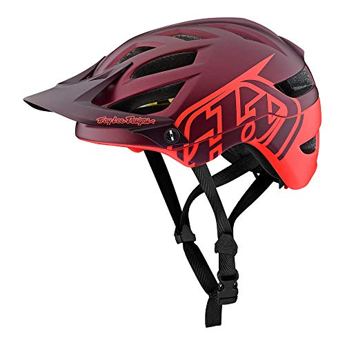 - Troy Lee Designs Adult | All Mountain | Mountain Bike | A1 Classic Helmet with MIPS (Medium/Large, Burgandy/Orange)