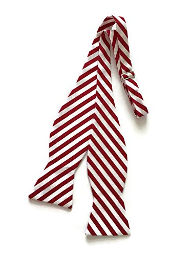- Candy Cane Bow Tie Holiday Free-Style Design for Men (Mens)