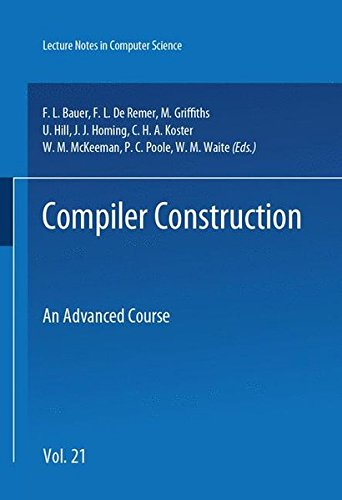 Book cover from Compiler Construction: An Advanced Course (Springer Study Edition) by Friedrich L. Bauer