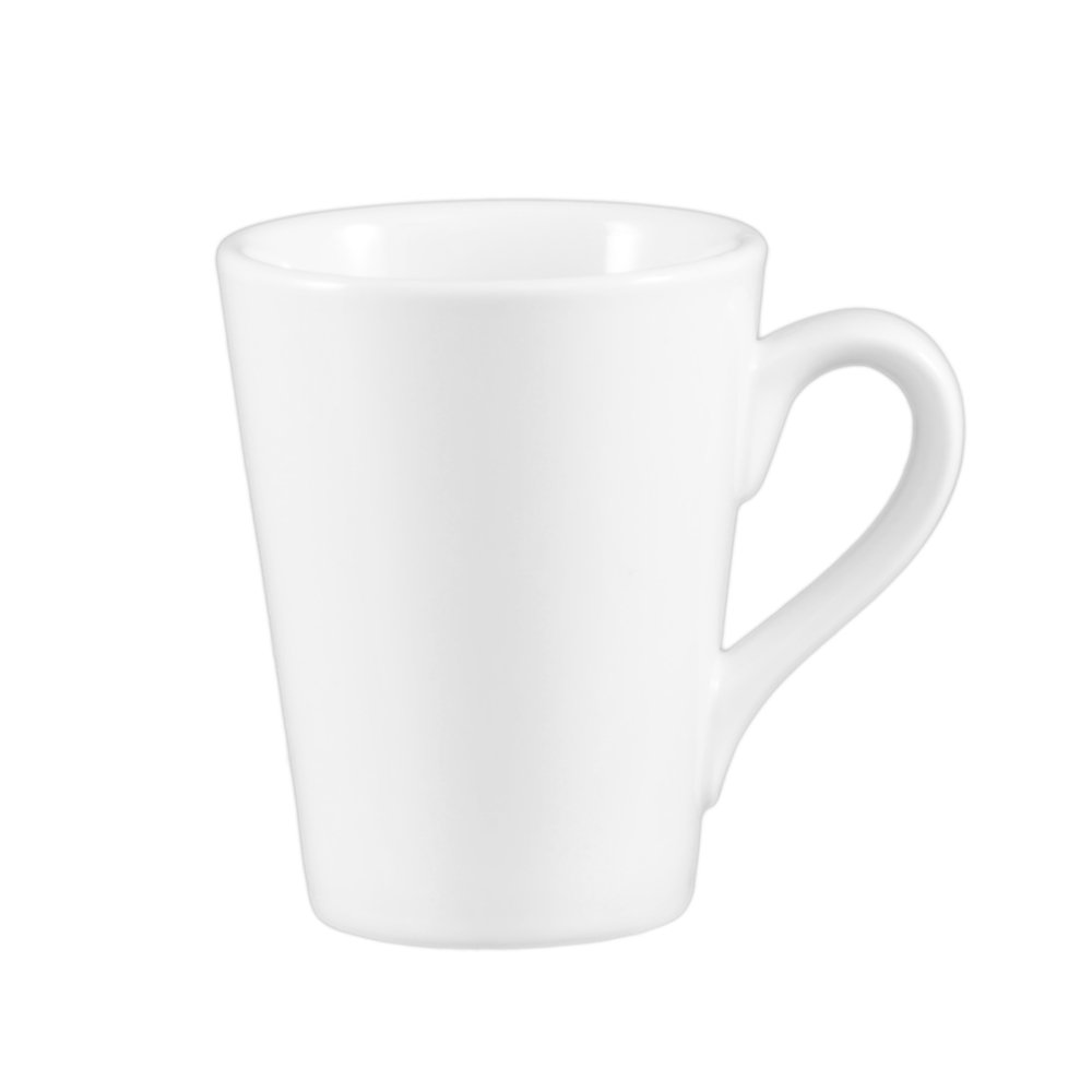 CAC China VC-12-P Venice 3-1/2 by 4-3/8-Inch Porcelain Round Victory Mug, 12-Ounce, Super White, 36-Pack