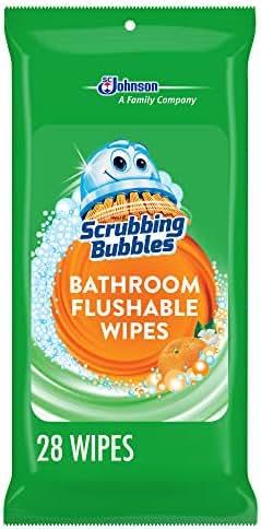 Bathroom Cleaner: Scrubbing Bubbles Bathroom Flushable Wipes