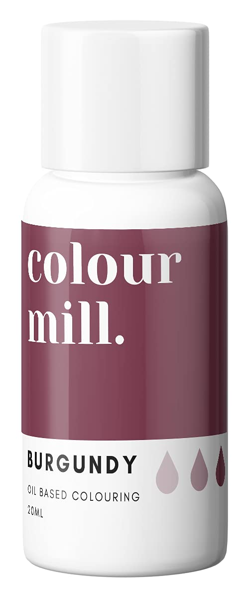 Colour Mill Oil-Based Food Coloring, 20 Milliliters Burgundy