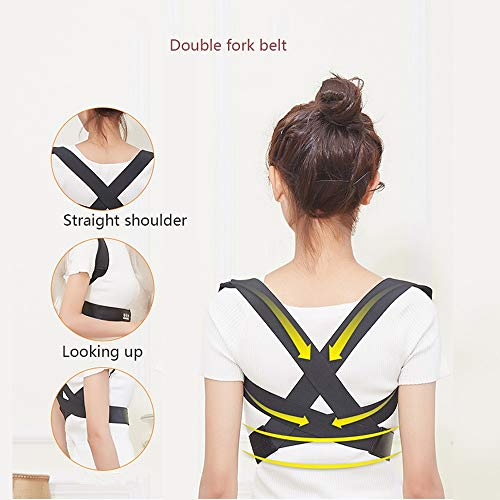 WYNZYJZBD Invisible Hunchback Correction Belt, Adult Students Universal Correction High and Low Shoulders with Chest Hunch Correction Belt Posture Correction (Size : M) by WYNZYJZBD (Image #2)