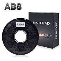 ABS Filament 3D Printer Filament,Enotepad 1.75mm PLA,Filament 3D Printing Materials,Dimensional Accuracy ± 0.02 mm,2.2lbs(1KG) Spool