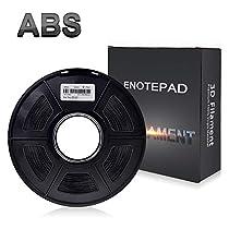 ABS Filament 3D Printer Filament,Enotepad 1.75mm PLA,Filament 3D Printing Materials,Dimensional Accuracy ± 0.02 mm,2.2lbs(1KG) Spool
