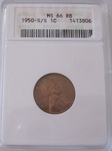 1950 S Lincoln wheat S/S Cent MS66