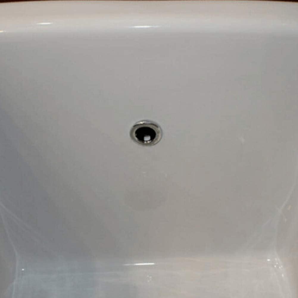 housesweet Bonde de trop-plein ronde avec grille pour lavabo de salle de bain