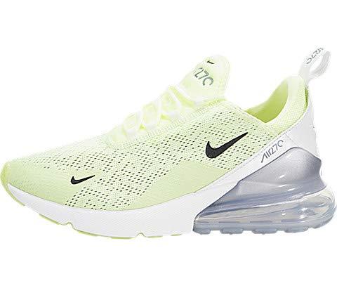 f26465f7fab3 Nike Women s Air Max 270 Barely Volt Black Summit White Nylon Casual Shoes  6.5 M US