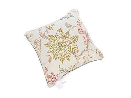 CROSCILL Square Retreat Pillow, 16 by 16-Inch, Aqua