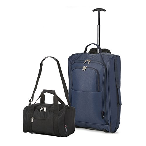 5 Luggage Set and Second L cm Cabin Black Approved Main 42 On Carry BothHand Navy 54 Black Ryanair Cities PwqxSX0ZrP