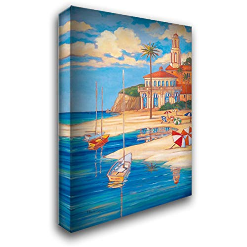Beach Club II 40x60 Extra Large Gallery Wrapped Stretched Canvas Art by Brent, Paul