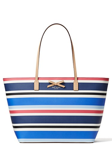 Kate Spade New York Eden Street Margareta Pebbled Grainy Vinyl Bag, Waltz Stripe Blue ()
