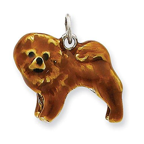 Argent 925/1000-Émail-Breloque chien JewelryWeb