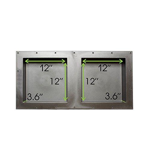 7Penn Shower Niche 32 x 16 Inch Double Shelf Shower Insert Shower Shelves for Tile Walls – Wall Niche Shower Box by 7Penn (Image #1)