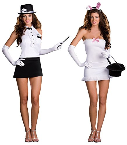 GTH Women's Rabbit In The Hat Trick Magician Fancy Dress Sexy Costume, M (6-10) - Lady Magician Costume