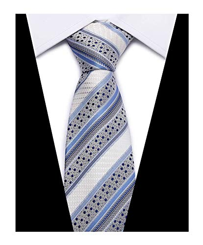 (Men's Stylish Geometric Striped Tie Trendy Patterned Fashion Suit Casual)
