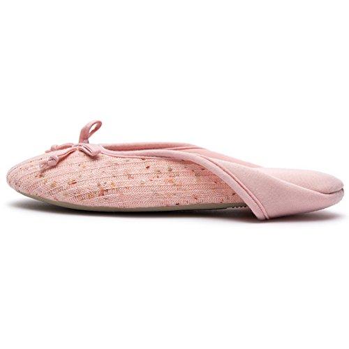 Rose Pantoufles Hometop Mémoire Femme De Ballerine Chaussures tzRPz