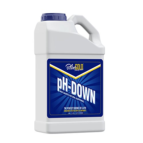 Blue Gold pH Down 1 Gallon 0.0 - 0.3 pH Non Caustic Concentrate for All Pro General Hydroponics Systems, Nutrient Reservoir Tanks, & Aquaponics. ()