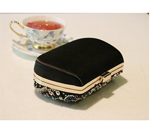 Diamond Stitching Chain De Clutch Bags Sacs Mediumsize Beads Bag Soirée Womens H6g1Uq