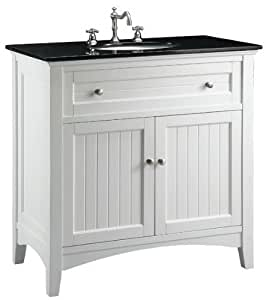 "37"" Granite Top Cottage Style Barnesville Bathroom Sink vanity CF47531GT"