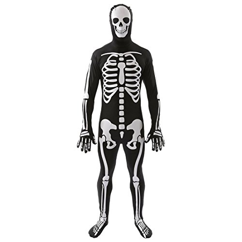 Slocyclub Couples Skeleton Bone Skin Jumpsuit Adult Costume for Women - Horse Costume Rental