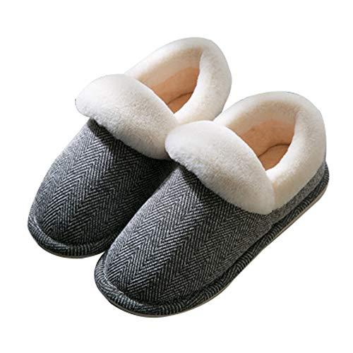 Sodhue Home Elegante Uomini Pattini Marina Semplice Morbido In Casa Antiscivolo Caldo Peluche Quotidiano Pantofole Inverno Scarpe Uso Cotone Per Donne ErCqr