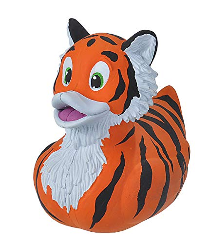 Wild Republic Rubber Ducks, Bath Toys, Kids Gifts, Pool Toys, Water Toys, Tiger, 4