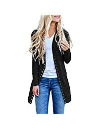 Doric Womens Winter Open Front Button Down Cardigan Sweater Long Sleeve Plus Loose Drape