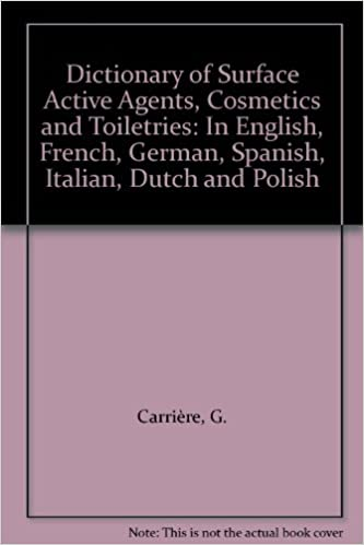 Amazon libro en descarga de cinta Dictionary of Surface Active Agents, Cosmetics and Toiletries 0444998098 PDF