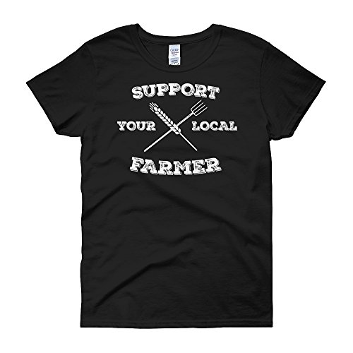 Great American Gifts Support Your Local Farmer Womens Short Sleeve T Shirt