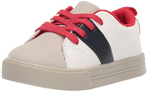 OshKosh B'Gosh Boys Brad Casual Sneaker, White, 6 M US Toddler (Toddler Shoes Oshkosh Boys)