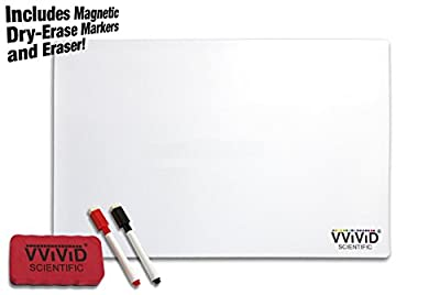 "VViViD White Magnetic Dry-Erase 12"" x 16"" Project Vinyl Mat Board Including 2x Dry-Erase Markers and Eraser Block"