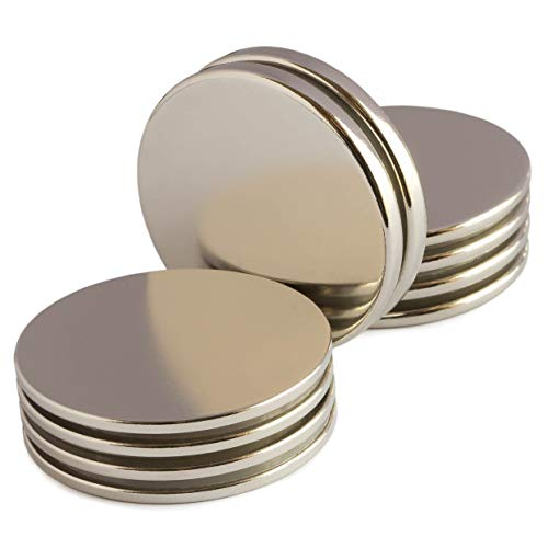 Powerful Neodymium Disk Magnets - Mixed Pack of 10 Rare Earth Magnets - Permanent N52 Round Magnets for DIY, Fridge, Hanging - 1.26''Dx0.06''/0.08''/1/8'' by ZOPRIMA (Image #7)