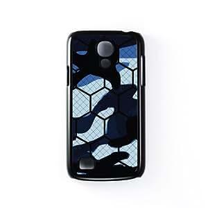 Hex Camo Carcasa Protectora Snap-On en Plastico Negro para Samsung® Galaxy S4 Mini de Gadget Glamour + Se incluye un protector de pantalla transparente GRATIS