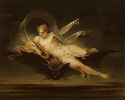 Oil Painting 'Henry Singleton - Ariel On A Bat's Back,1819' Printing On Polyster Canvas , 24x30 Inch / 61x76 Cm ,the Best Home Theater Gallery Art And Home Artwork And Gifts Is This Replica Art DecorativeCanvas Prints