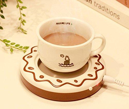 [해외]전자 브로치 새로운 휴대용 쿠키 USB 전자 따뜻한 커피 밀크 티 컵 난방 패드 플레이트/E-Bro New Portable Cookie USB Electronic Warmer Coffee Milk Tea Cup Heating Pad Plate
