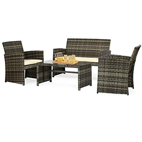 furniture grey wicker conversation set