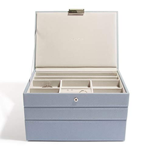 Stackers Dusky Blue Classic Jewelry Box - Set of 3