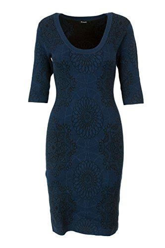 Blue Kleid Damen 18WWVF14 Desigual Latrice Vest Kurzes qvwxZY