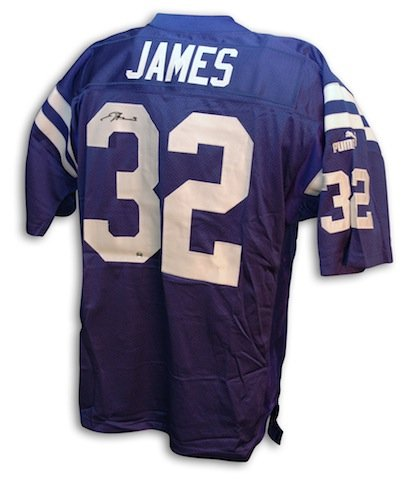 Image Unavailable. Image not available for. Color  Autographed Edgerrin  James Indianapolis Colts Authentic NFL Puma Blue Jersey 543d7ef4b