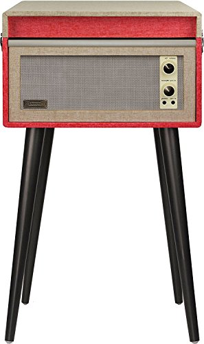 Crosley CR6233D-RE Dansette Bermuda Portable Turntable with Aux-in and Bluetooth, Red by Crosley (Image #3)