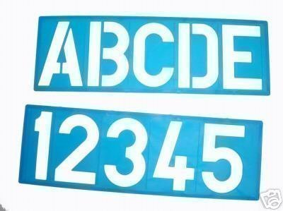 MM ALPHABET STENCIL SIGNWRITING UPPER CASE NUMBERS Amazonco - Letter stencil templates
