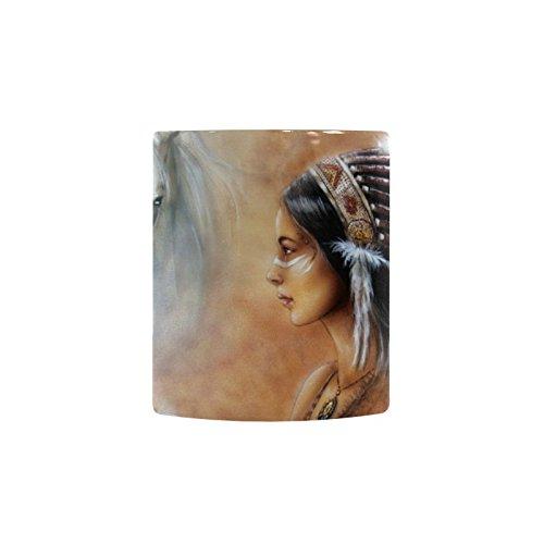 Native American Indian Art Prints 11 OZ Travel Heat Sensitiv