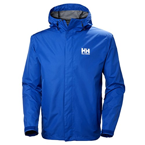 (Helly Hansen Men's Seven J Waterproof Windproof Breathable Rain Coat Jacket, 564 Olympian Blue, Large)