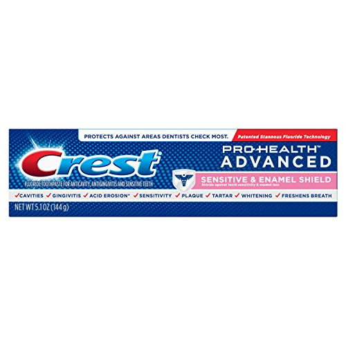 Crest Pro-Health Advanced Sensitive & Enamel Shield Toothpaste, 5.1 oz (Packaging May Vary)
