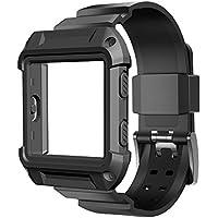 umtele Correa de recambio (con pines de liberación rápida de silicona para Fitbit Blaze Smart Fitness Reloj, grandes, pequeñas