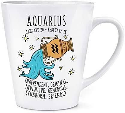 Aquarius Horóscopo 0,35L Latte Taza: Amazon.es: Hogar